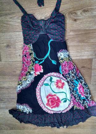 Платье / сарафан с ярким принтом