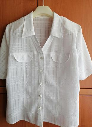 Женская блузка блуза белая