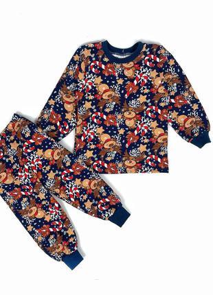 Новорічна новогодняя пижама с оленями  пижамка піжама піжамка тепла