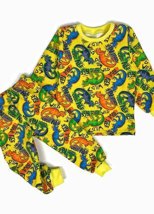 Піжама піжамка пижама пижамка тёплая с начесом тепла с динозаврами динозавриками