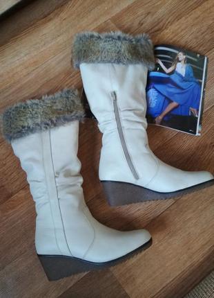 Зимние,утепленные кожаные сапоги. remonte dorndobf.