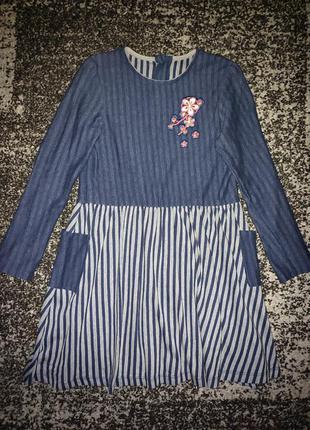 Платье с длинным рукавом бемби