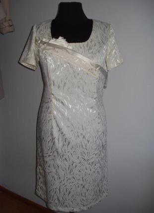 Нарядное платье из шелкового жаккарда. размер 56-58 украинский