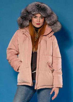 Куртка шикарная парка-пуховик  модель 2018. капюшон- фин. чернобурка! есть размеры