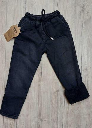 Теплые джинсы на махре мальчику рр.92-122 beebaby (бибеби)