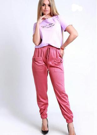 Турция. новые. спортивние штаны, брюки, женские джогеры песочные темно розовый