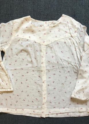 Блузка с длинным рукавом mango 92 см
