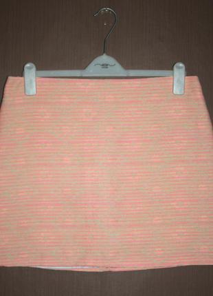 Актуальная мини юбка трапеция этно узор бохо стиль miss selfridge №100