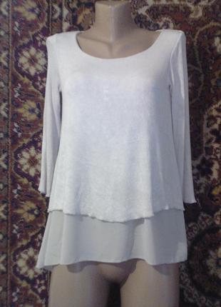 Creme fraiche италия итальянская кофточка кофта удлиненная платье блузка необычного кроя