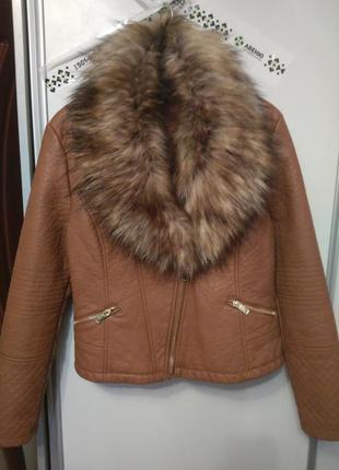 Куртка-косуха , кожанка, размер 48