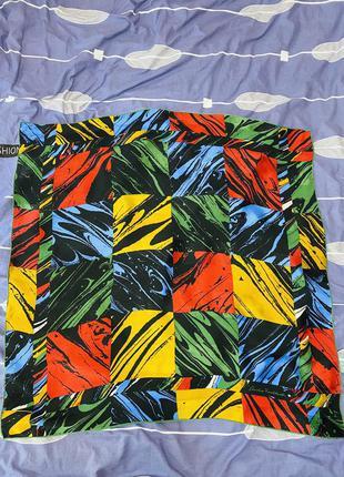 Подписной шелковый платок в геометрическую абстракцию christian fischbacher
