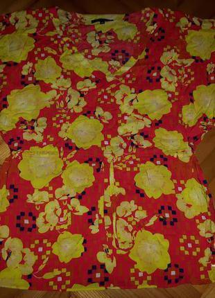 Блуза в принт с пояском от mcgregor! p.-42