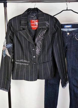 Красивый легкий пиджак жакет блейзер vero moda вышивка этикетка