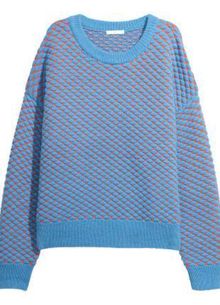 Стильный новый теплый свитер