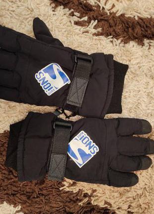 Перчатки зимние женские подростковые детские snoi