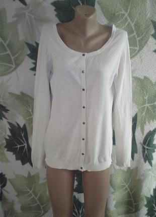 Vero moda кофта кофточка джампер белая белоснежная белоснежка 100% хлопок хлопковая на пуговицах