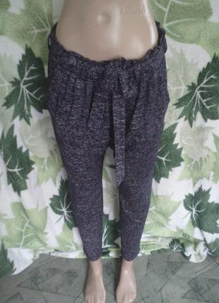 Only спортивные штаны штанишки с пояском и карманами цвет рябистый