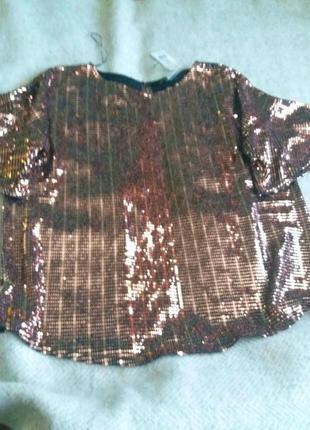 Блуза в стиле диско с блестками новая f@f