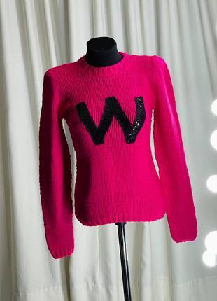 Яркий женский свитер джемпер кофта с пайетками