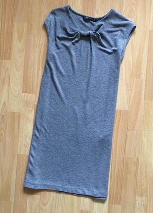 Доступно - трикотажное платье-туника *zara woman* р. xs - 30% шерсть