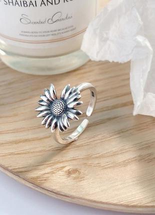 Кольцо цветок ромашка серебро 925 / большая распродажа!