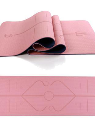 Фитнес коврик для йоги пилатеса