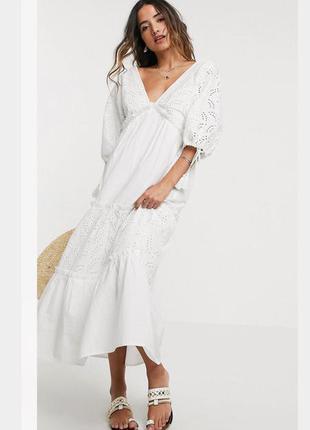 Новое белое платье 🤍asos прошва хлопок 💥