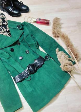 Пальто осеннее с поясом