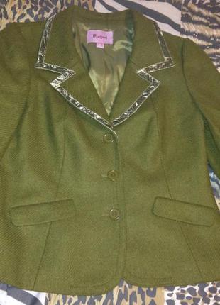 Теплый шерстяной пиджак жакет moonsoon р.14 xl