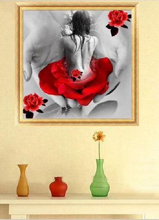 Алмазная живопись» ,вышивка lady in red