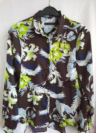 Рубашка цветочный принт zara