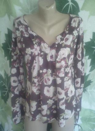 Zara морокко fall/winter кофта блузка цветы кофточка с длинным рукавом цветочный принт