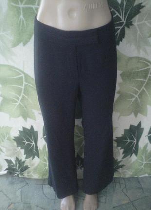 Marks&spencer морокко брюки кюлоты темно синие брючки штаны палаццо широкие свободные