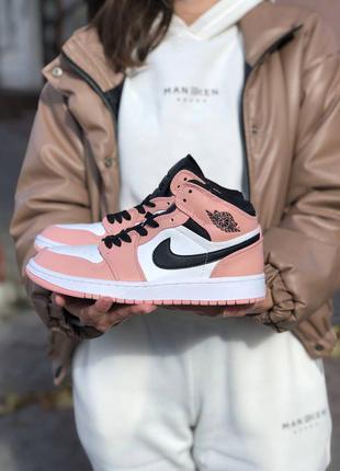 Женские кроссовки nike air jordan 1 high pink