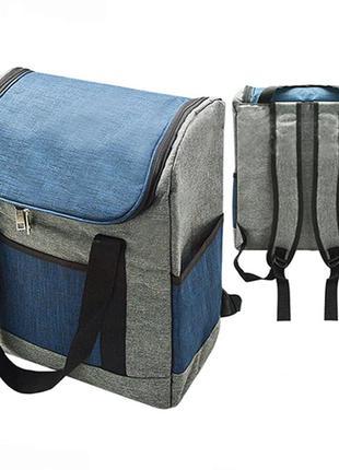 Термосумка рюкзак stenson 33 х 17 x 38 см (8010-5) синий / красный