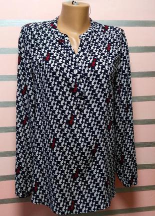 Красивая блуза с абстрактными котами betty barclay