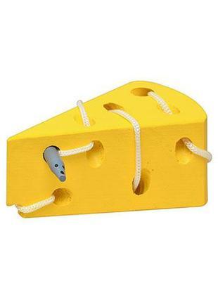 Деревянная шнуровка сыр