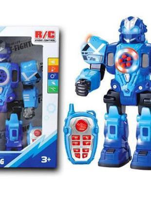 Детский робот на радиоуправлении kd-8811a со звуком и светом (синий)
