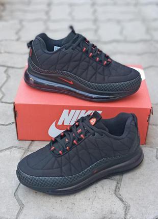 Мужские термо кроссовки nike air max 720 черные, демисезонные