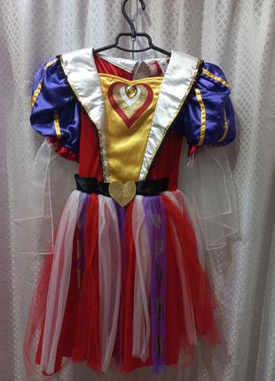 Карнавальное платье червовой дамы