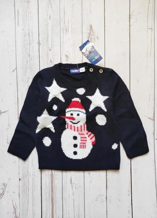 Детская светящаяся новогодняя новорічна кофта свитер свитшот 86/92 lupilu