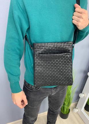 Мужская сумка плетенка