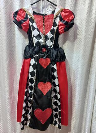 Карнавальное платье на хелоуин червовая дама