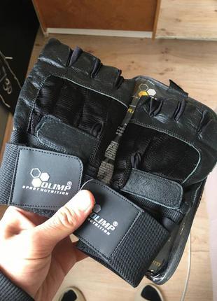 Перчатки мужские спортивные olimp hardcore competition wrist wrap, черные