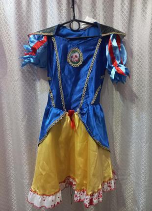 Карнавальное платье на хелоуин белоснежка