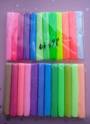 Полимерная глина флуоресцентная 24 цвета (839606) - термопластилин