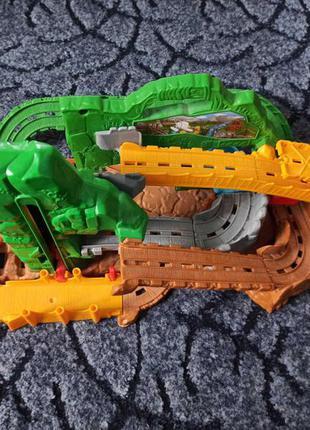 Трек паровозик томас thomas рhot wheels железная дорога игрушка