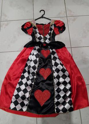 Карнавальное платье дама чирвовая на хэллоуин