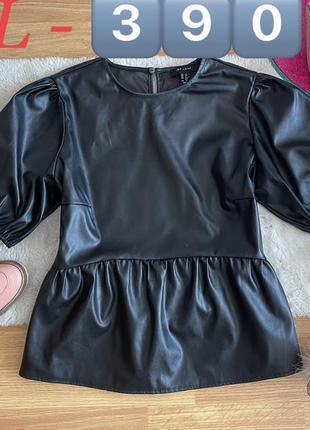 Блузка эко кожа