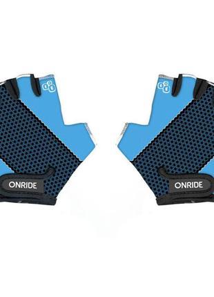 Перчатки детские onride gem черный-синий